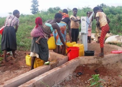 Bore hole well used by the community