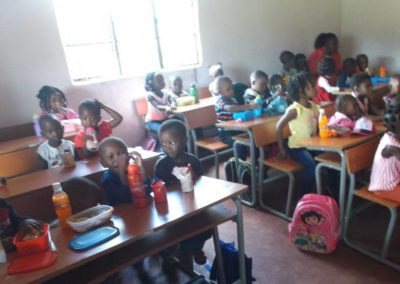 Donation of desks to a pre-school serving orphans